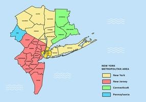 Greater New York City Map Vector