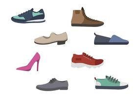 Flat Shoes Vectors