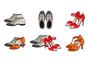 Flat Tap Shoes vector