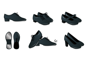 Realistic Tap Shoes Vector