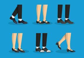 ilustração de conjuntos de vetores de sapatilhas