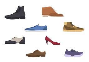 Vectores de zapatos planos