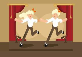 Tryck på dansare illustrationen