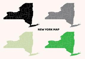 New York Map Flat Design