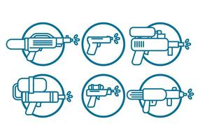 Watergun vector set