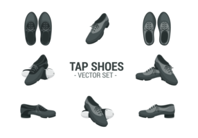 Tap Shoes Icons Vector