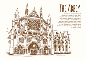 Hand Drawn Abbey vector