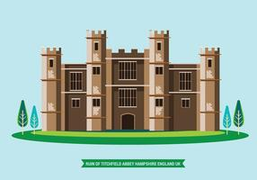 Illustration of Titchfield Abbey Hampshire England UK