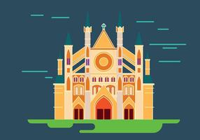 Illustration av Westminster Abbey i London Vector
