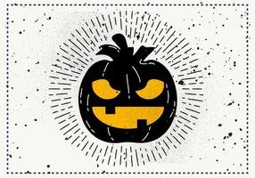 Free Vintage Halloween Pumpkin Vector Illustration