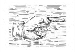 Mano libre dibujado ilustración de la mano del vector