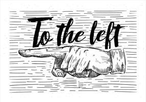 Ilustração da mão do vetor desenhada à mão livre