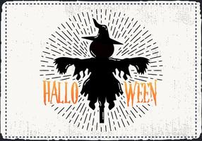 Scary Halloween Scarecrow Vector