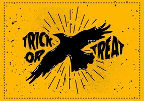 Gratuit Scary Halloween Crow vecteur