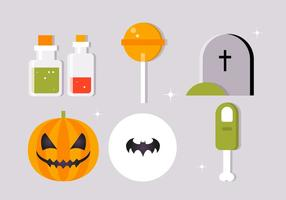 Kostenlose flache Halloween Vektor Elements Collection