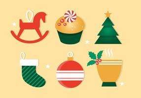 Gratis Flat Design Vector Winter Holiday Icons
