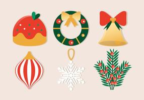 Kostenloses flaches Design Vektor Winter Holiday Icons