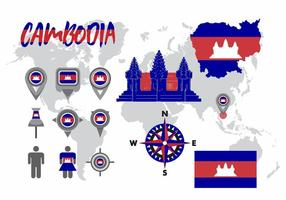 Cambodia Map Vector Pack