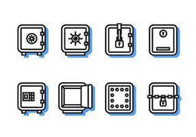 Line Icon Strongbox Free Vector