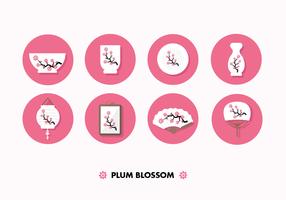 vetor de flor de ameixa livre