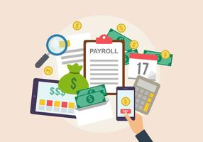Payroll Vector Illustration