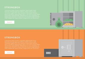 Strongbox Set Banner Template Free Vactor