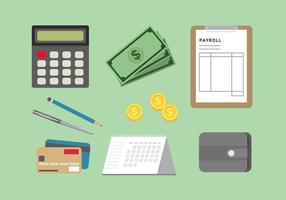 Payroll Icon Set Free Vector