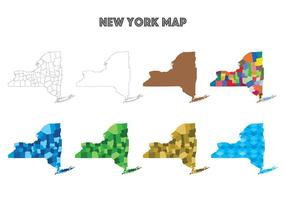 New York Map Vectors
