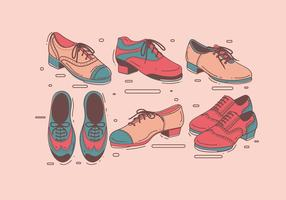 Tap Shoes for Mens Vector