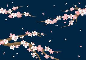 Pflaumenblüten-Hintergrund-freier Vektor
