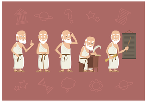 Free Socrates Character Vector