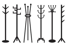 Minimalist and Trendy Coat Stand Vector
