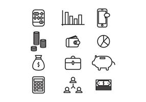 Geplaatste Public Accountant Icons vector