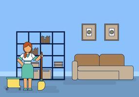 Hausmädchen-Hausmeister-Vektor