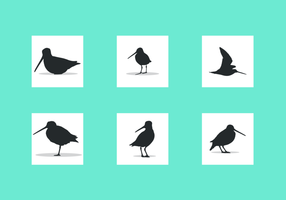 Snipe Silhouettes Free Vector Pack