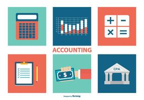 Accounting Icon Collection vector