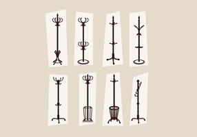 Coat Stand Set Vector
