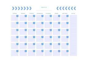 Free Unique Monthly Calendar Vectors