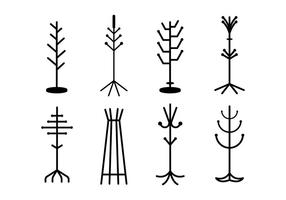 Free Coat Stand Vector Collection