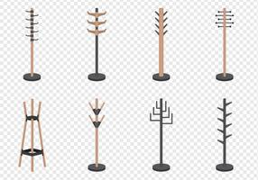 Coat Racks Set vector