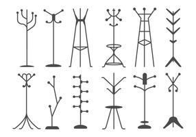 Free Coat Stand Silhouettes Vector