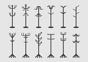 Coat Stand Icons vector
