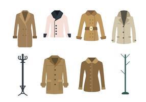 Vetores de casaco plano