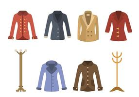 Vecteurs plats de manteau