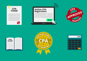 CPA or Certified Public Accountant Vector