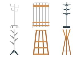Coat Stand Vector Ikoner