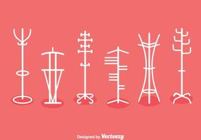 Coat Stand Collection Vector