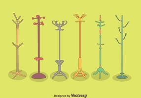 Hand Drawn Coat Stand Vector