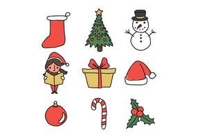 Christmas Doodled Icons