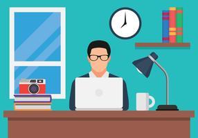 Blog Creator en el vector de la computadora